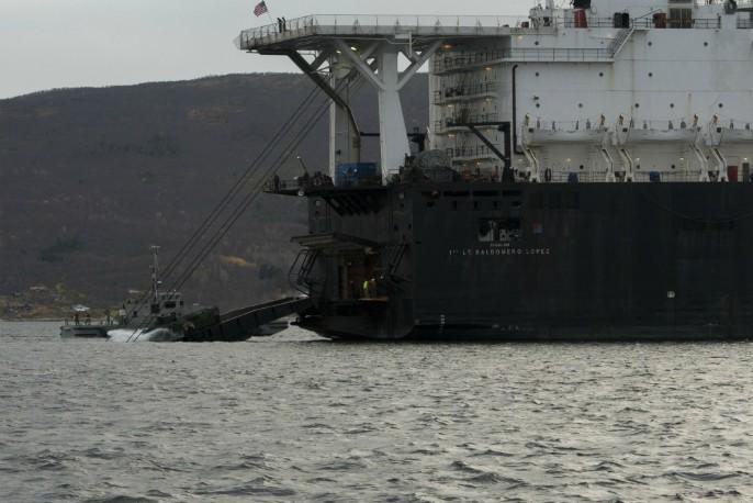 Sjøsetting amfibiekjøretøy