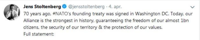 Stoltenberg tweet
