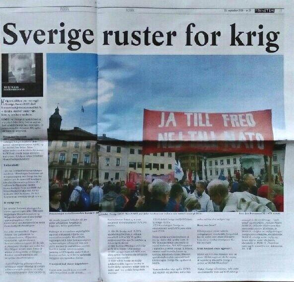 Sverige ruster for krig Friheten 260919