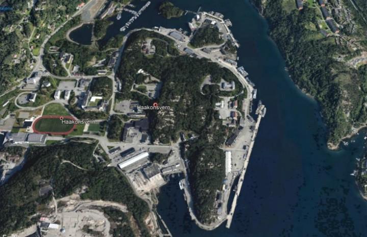 Haakonsvern Google Earth