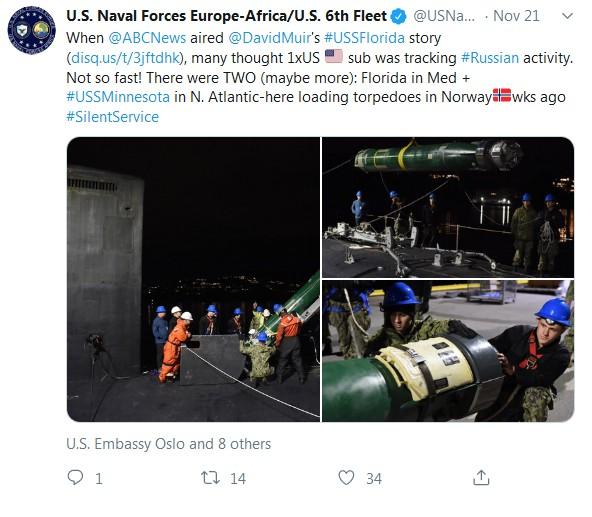 tweet US Naval Forces 221119