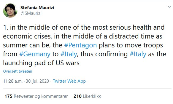 Stefania Maurizi tweet
